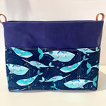 PRE-ORDER - Whales ~ Knitting and Crochet storage basket