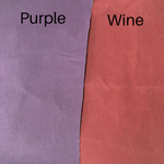 Knitting Project Bag ~ Knitters Carry All Backpack, image to compare colours of Purple and Wine fabric samples