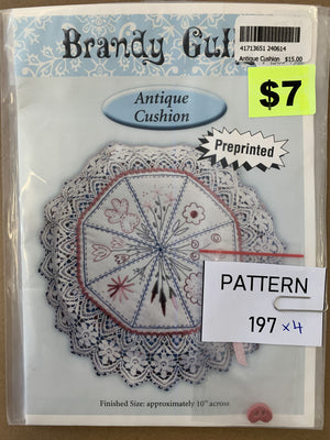 Pattern 197 - Includes Button
