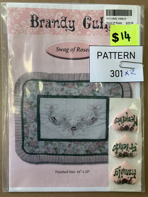 Pattern 301 - Includes Buttons