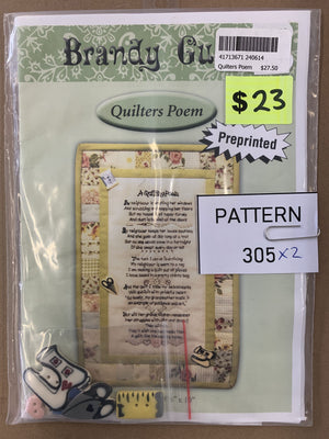 Pattern 305 - Includes Buttons