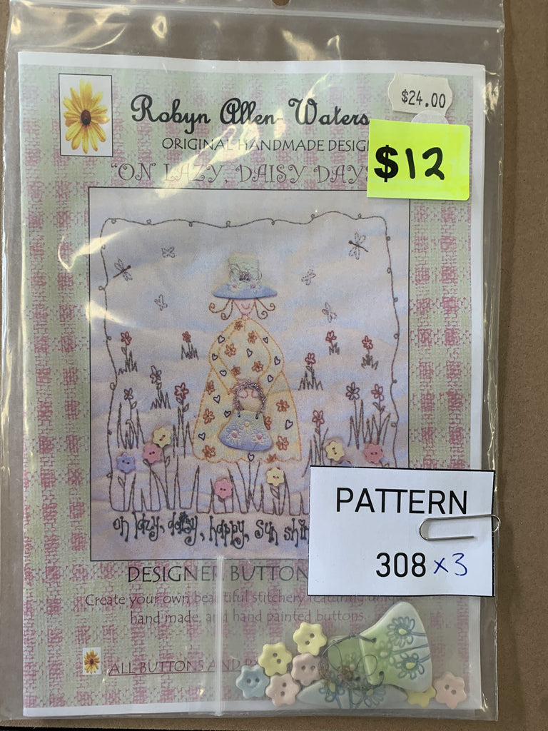 Pattern 308 - Includes Buttons
