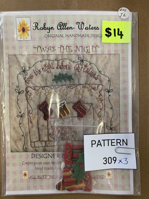 Pattern 309 - Includes Buttons