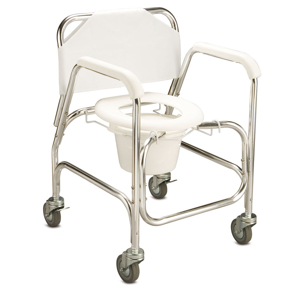 Care Quip Back To Basics Mobile Shower Commode