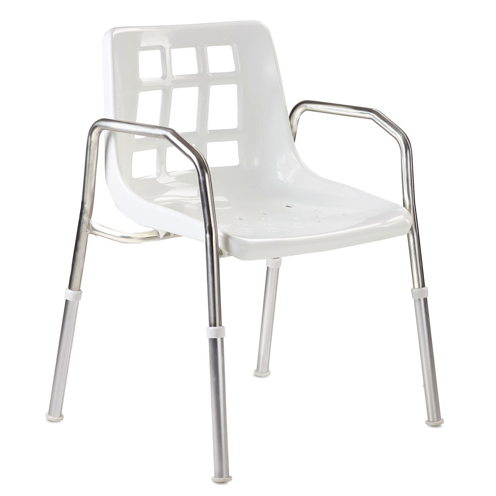 Care Quip Height adjustable Stainless Steel Shower Chair