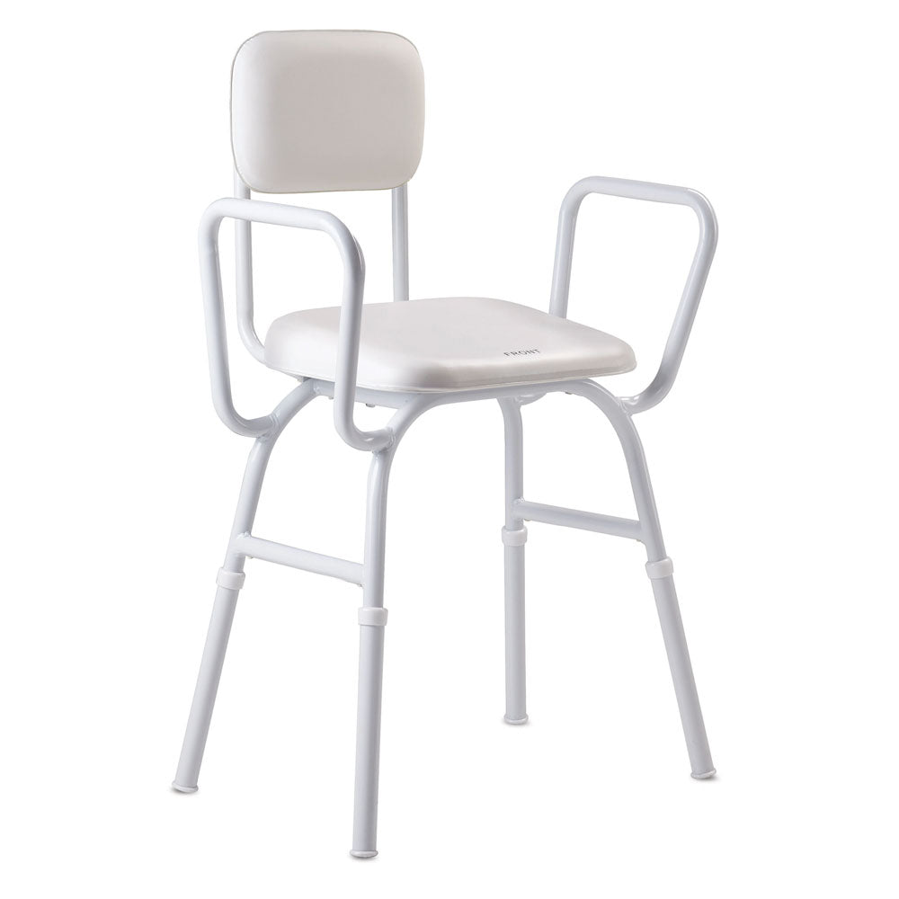 Care Quip Comfy Padded Seat and Backrest Shower Stool
