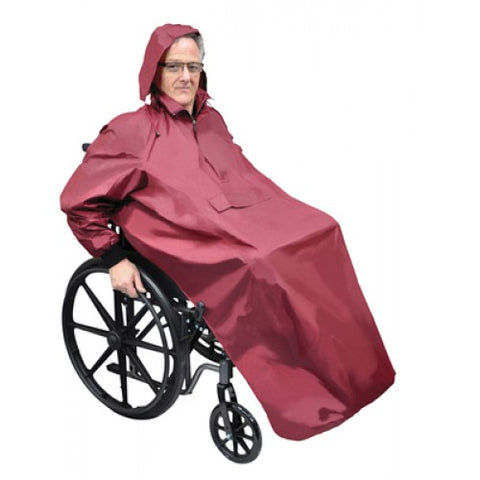 Aidapt Fully Sleeved Scooter Raincoat With Hood