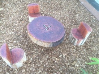 Log Table Set with Stump Seats