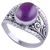 sterling silver amethyst crystal ring - Jenems