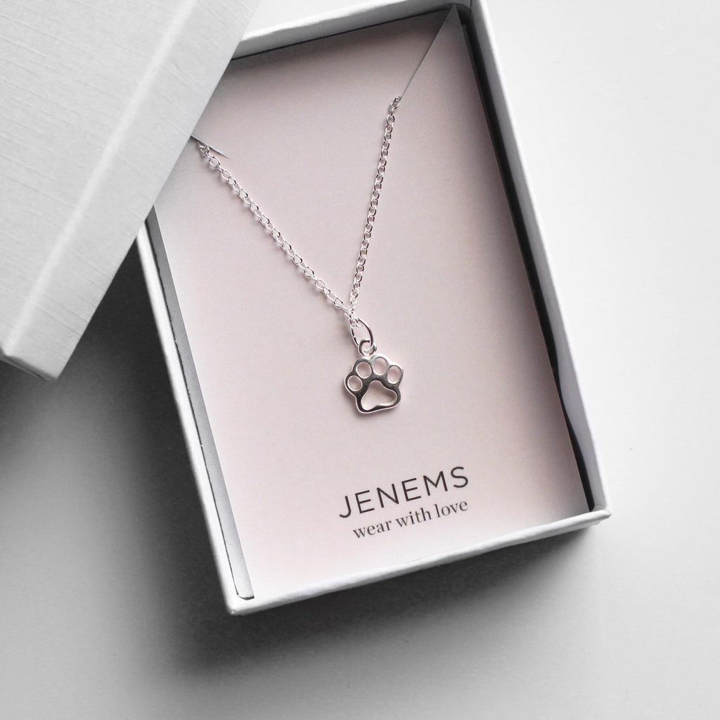 sterling silver paw necklace - Jenems