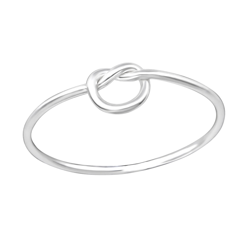 sterling silver knot ring - Jenems