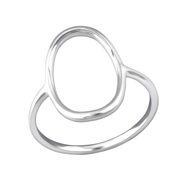 sterling silver large oval ring - Jenems