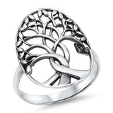 sterling silver tree of life ring - Jenems