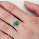 sterling silver turquoise cabochon ring - Jenems