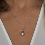 sterling silver acorn necklace - Jenems