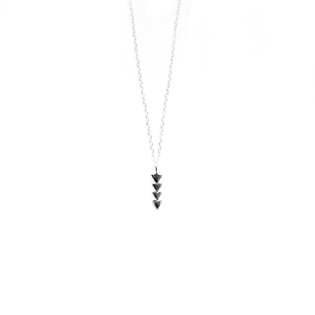 sterling silver geometric drop arrow necklace - Jenems
