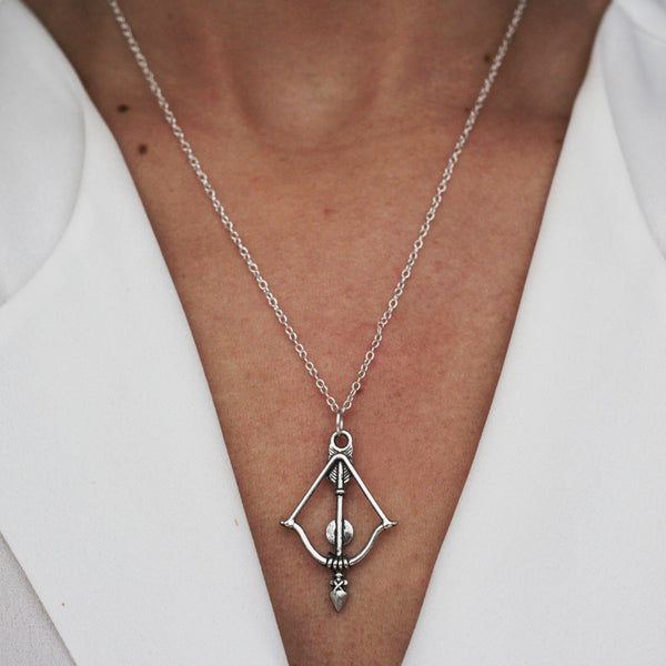 drop arrow sterling silver necklace