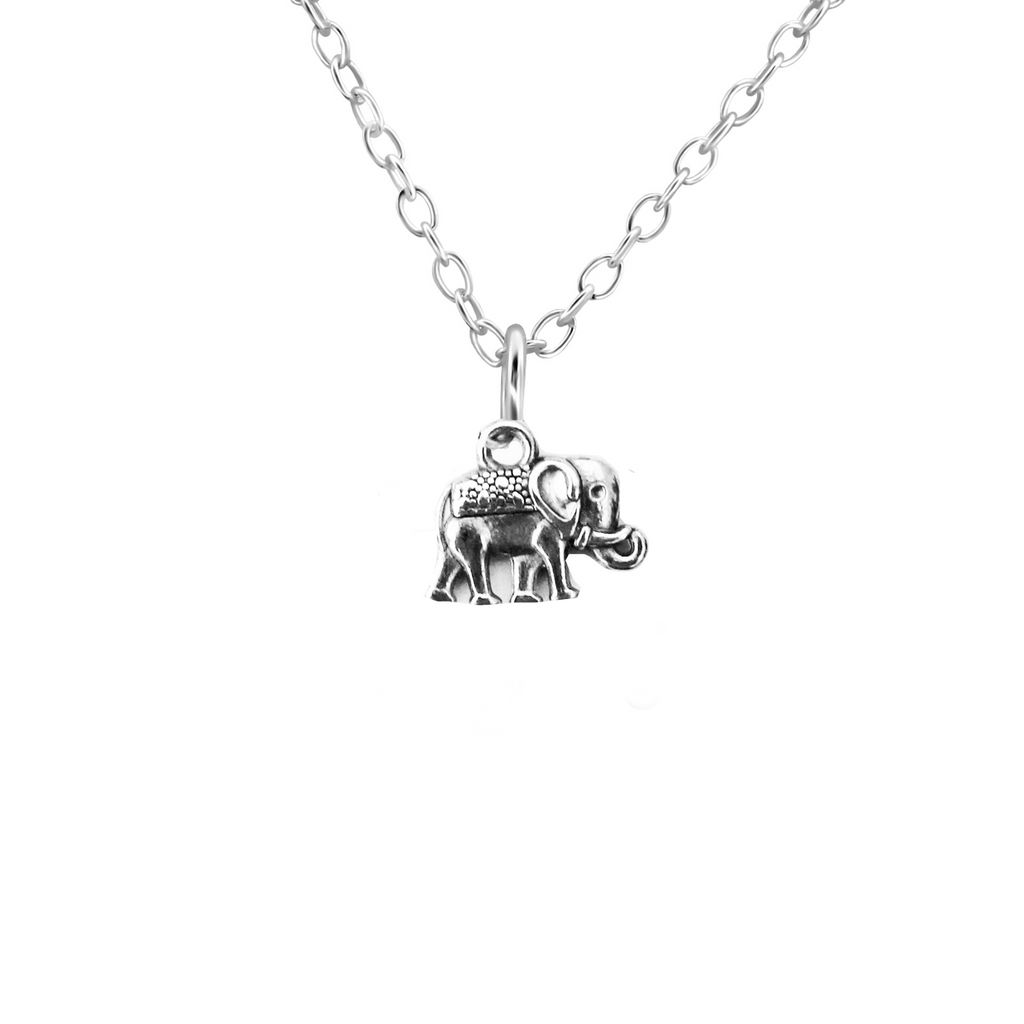 silver elephant necklace - Jenems