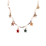 gold star choker necklace - Jenems