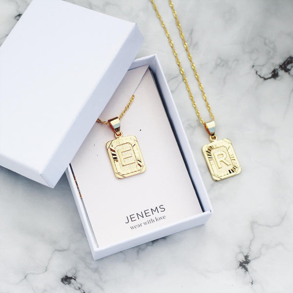Gold Initial Necklace - Jenems
