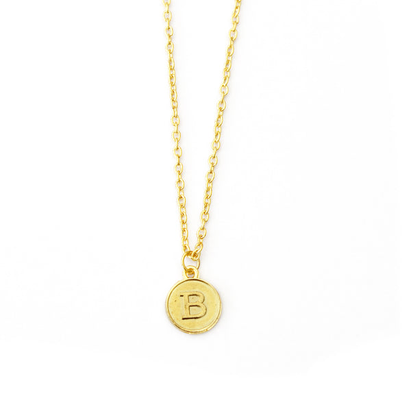 initial letter gold necklace
