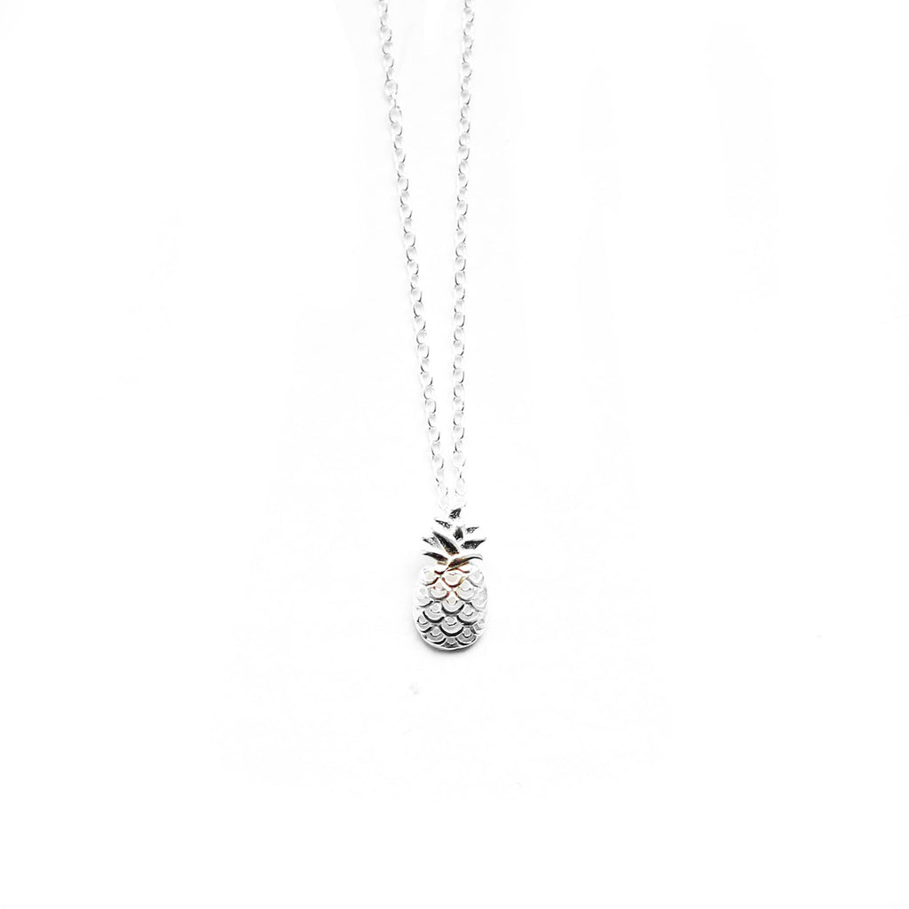 sterling silver pineapple necklace - Jenems