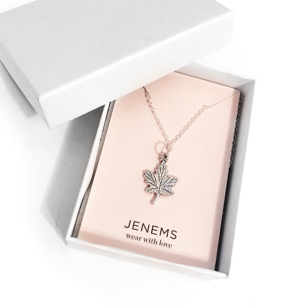 Autumn Leaf Necklace - Jenems