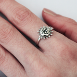 sterling silver sun and moon ring