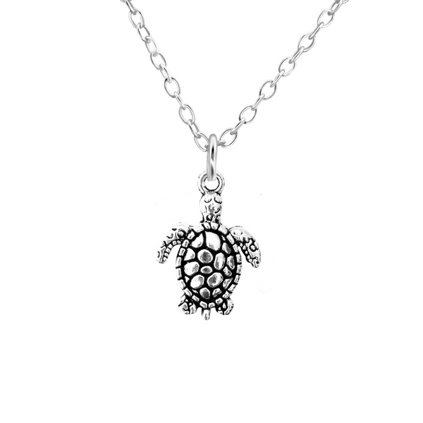 sterling silver turtle necklace - Jenems