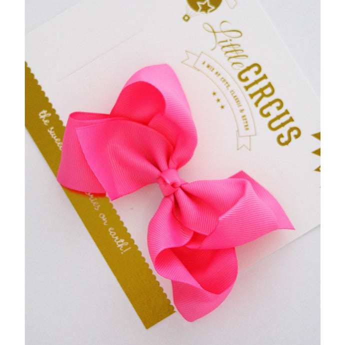 Big Bow Clip (Hot Pink)
