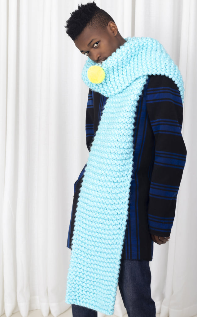 Light Blue Chunky Scarf