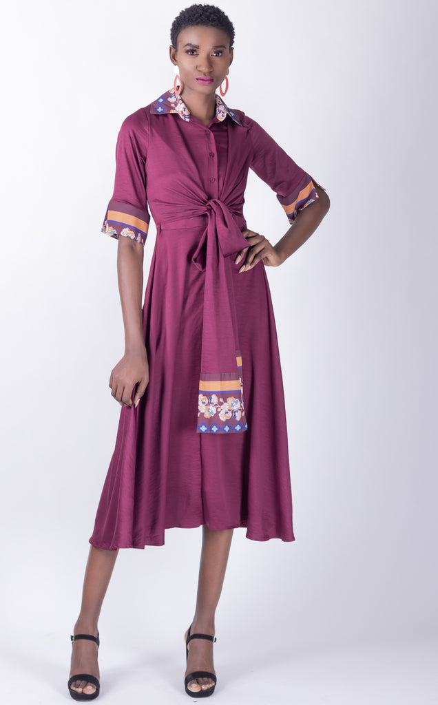 Jericho Dress - wrap dress with print detail
