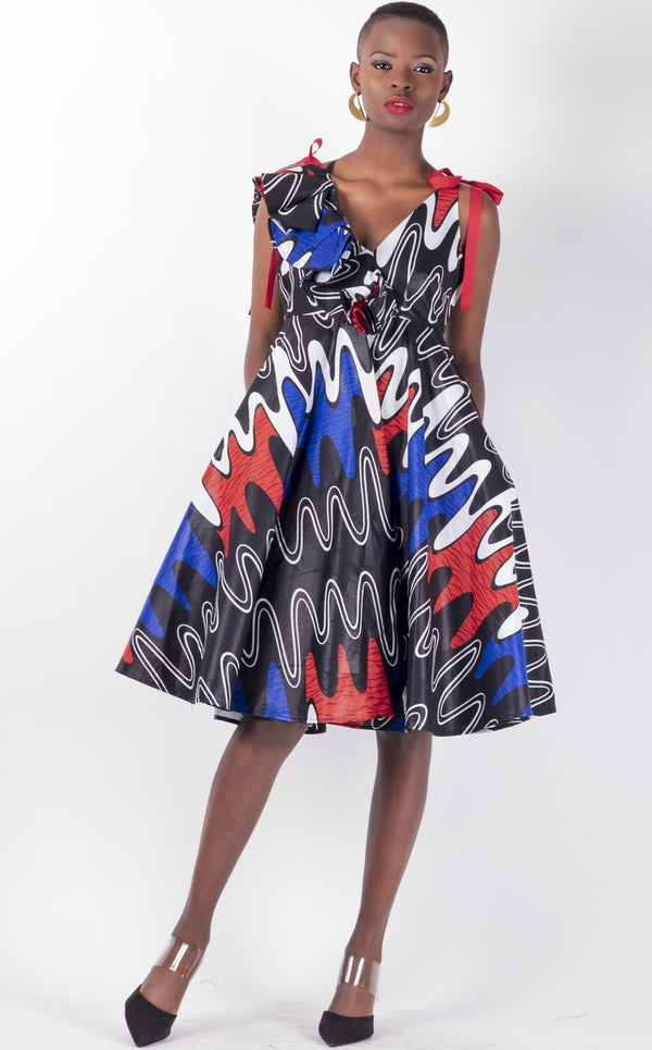 Swati- Bias- Cut Flared Dress