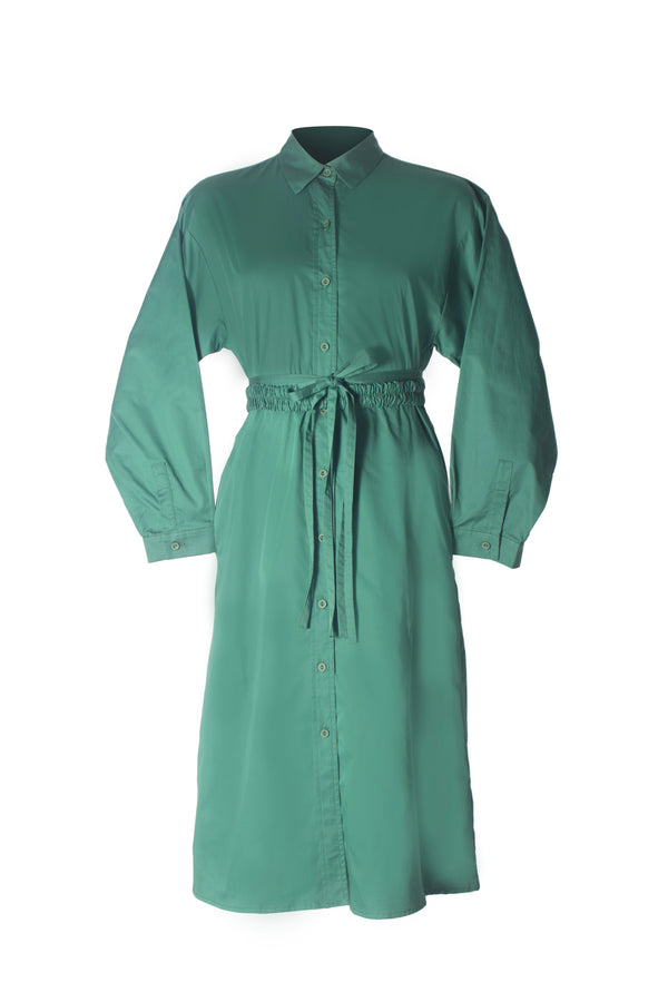 'Umgeni' bottle green dress
