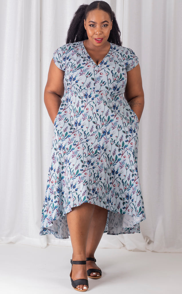 Nontathu Dress - Floral Short Sleeve Summer Dress