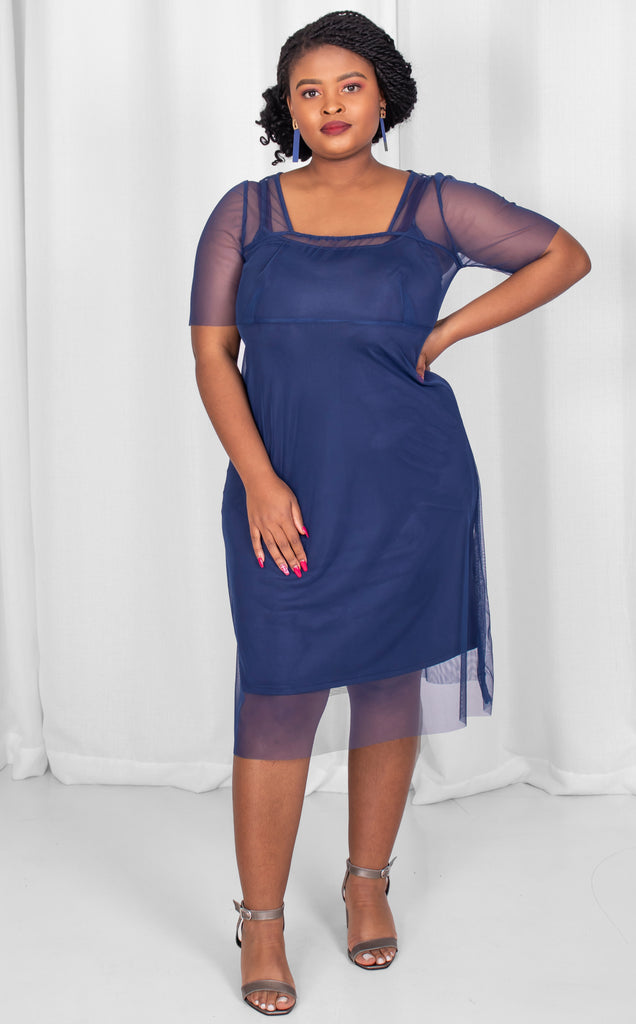 Clara Dress - Royal Blue Sheer Summer Dress