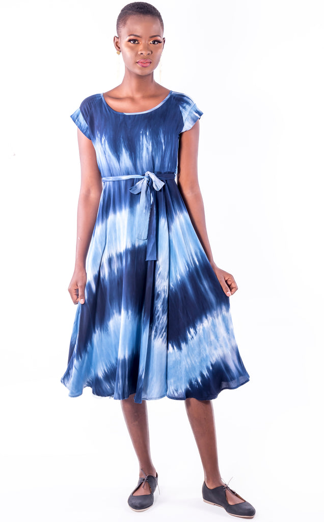 Alessa Dress - Blue Flare Summer Dress
