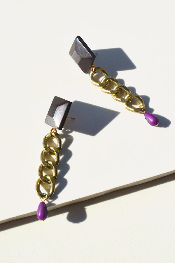 Chain Jewel Earrings