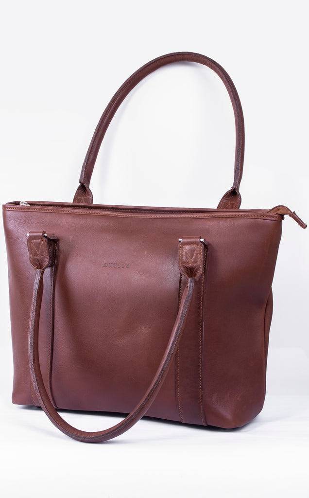Mila Luxe Leather Tote