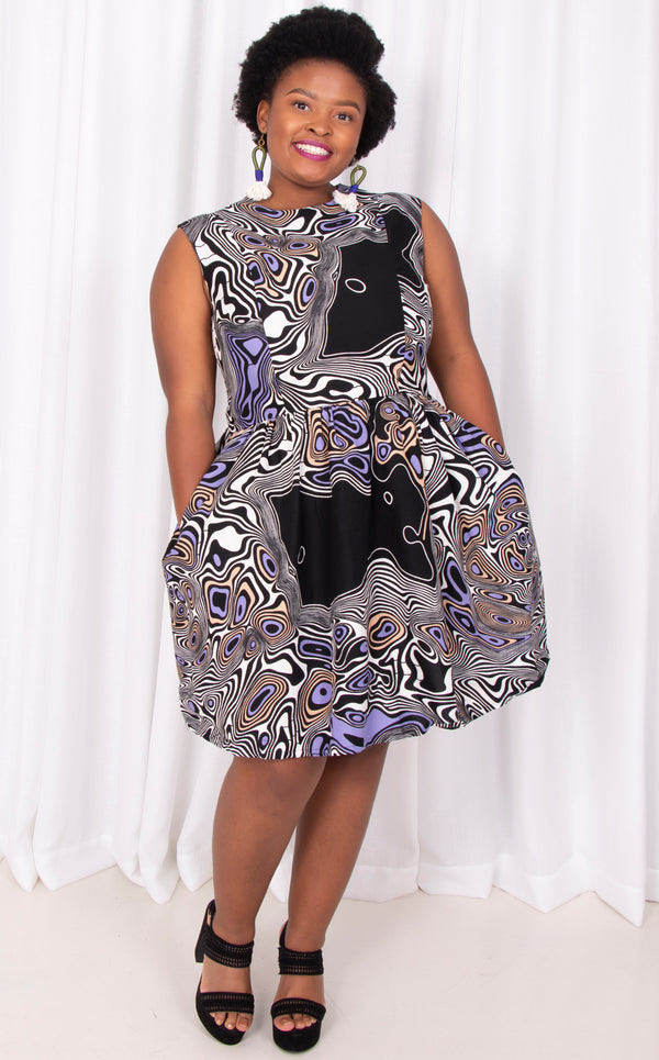 Umkhathi- Princess Shape Dress, Sleeveless