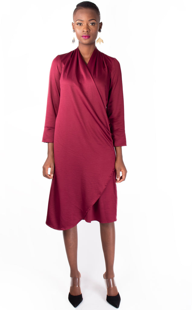 Berry Wrap Dress