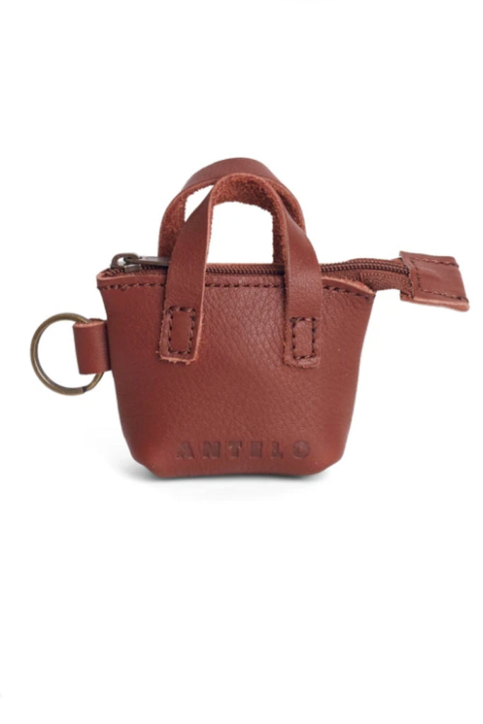 Blaire Leather Micro Tote Key-Ring