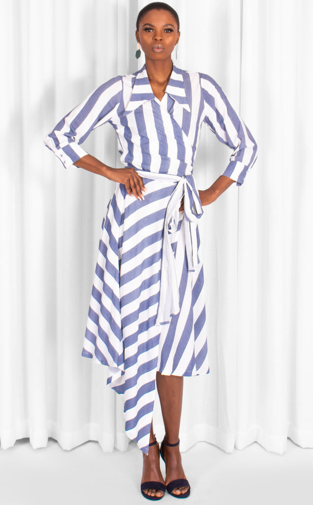 BLUE STRIPE VISCOSE DOLCE DRS