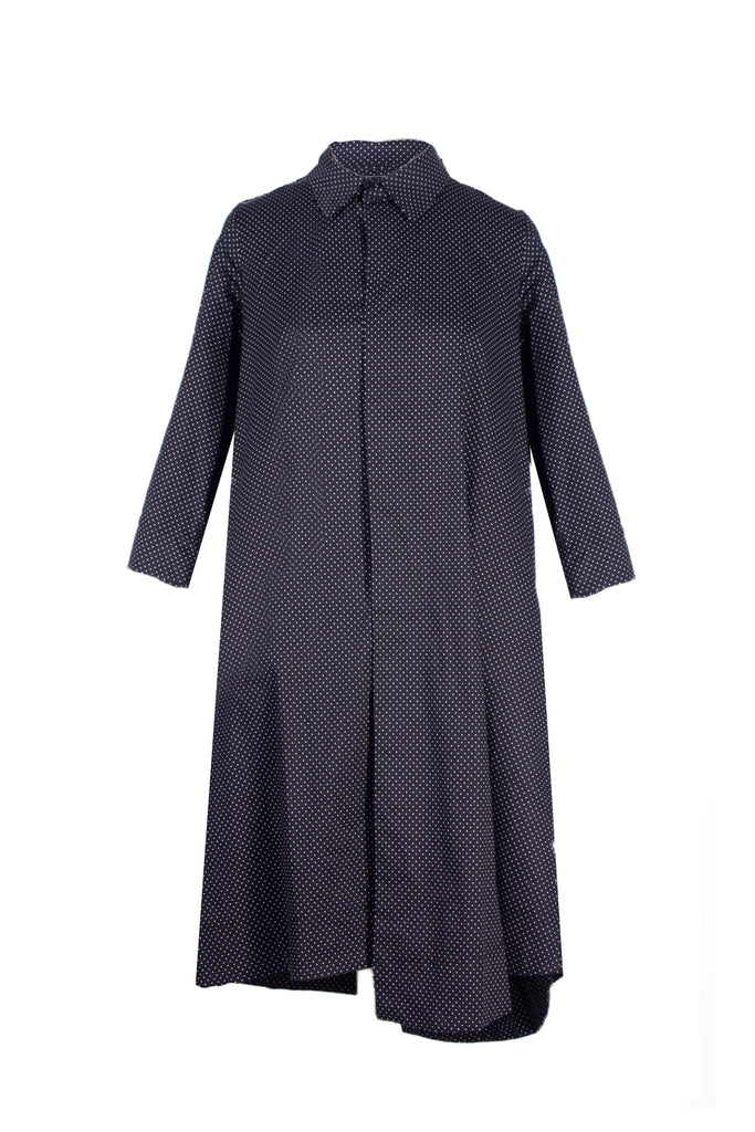 "Black spotted ""Hannah' shirt dress"