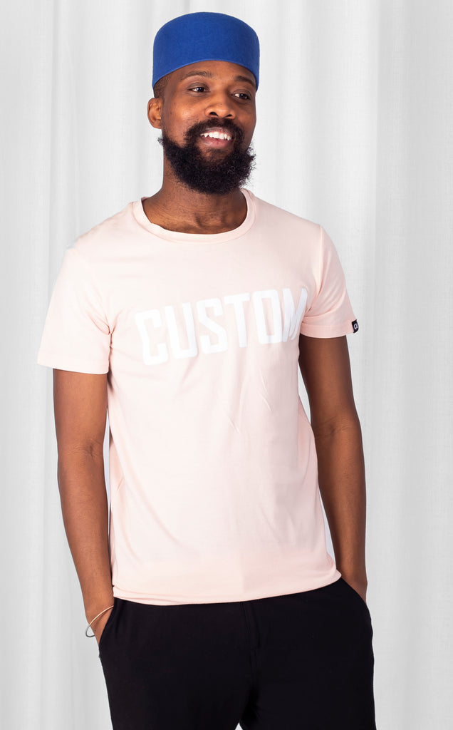 Custom Long Line Tee - Peach