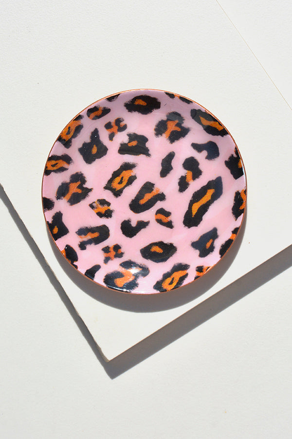 Dc Day Pink Leopard Spot Ring Tray