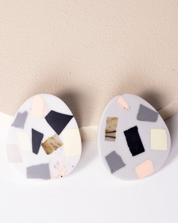 Jp Eggshell Earrings - Muted Hues