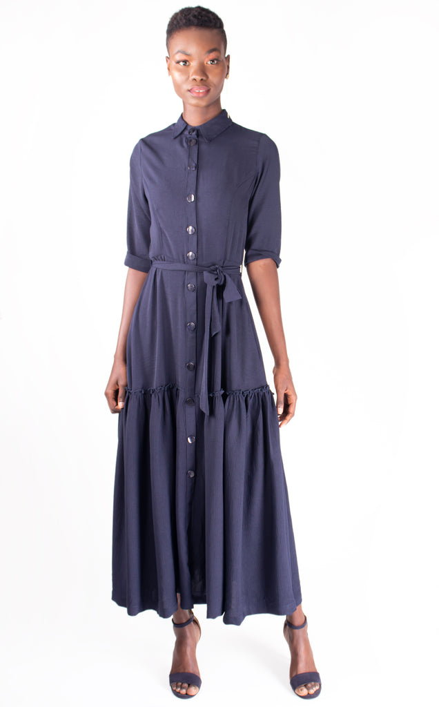 Navy Gipsy Shirt Dress