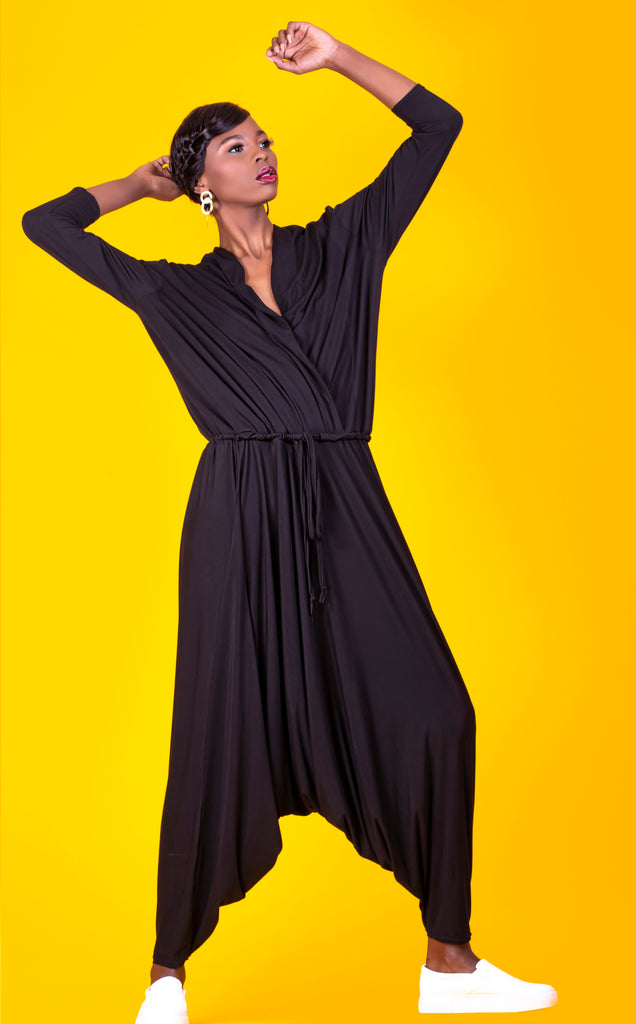 Black Long/Sl Ali Jumpsuit
