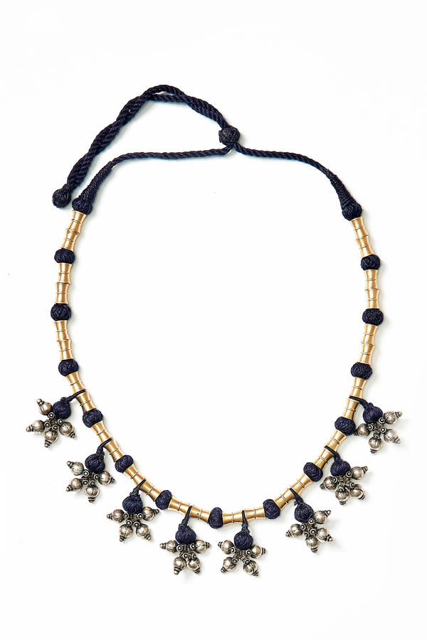 NECKPIECE WITH BRASS BEADS